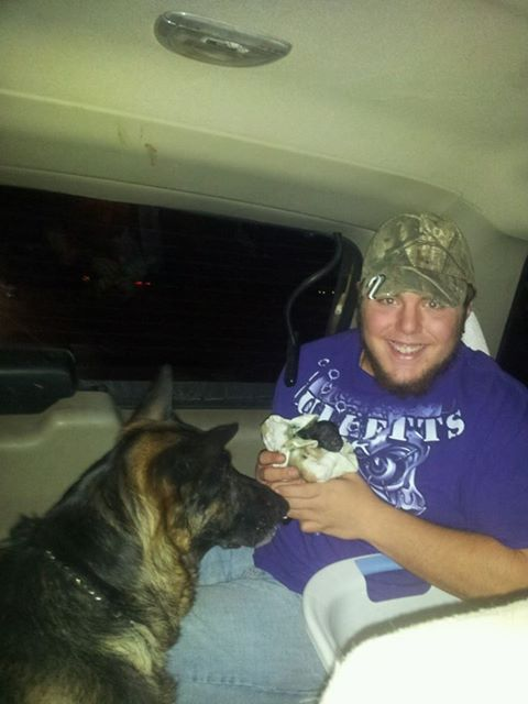 My so delivered his first puppy on the way to vets