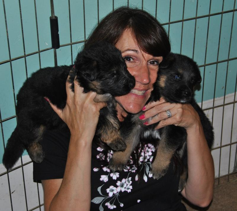 One of my best friends comes over to get her puppy love!