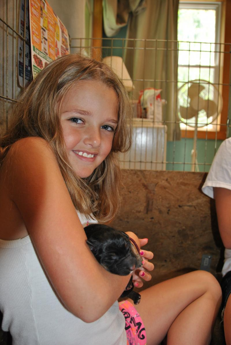 Emily my niece a very big help in the delivery