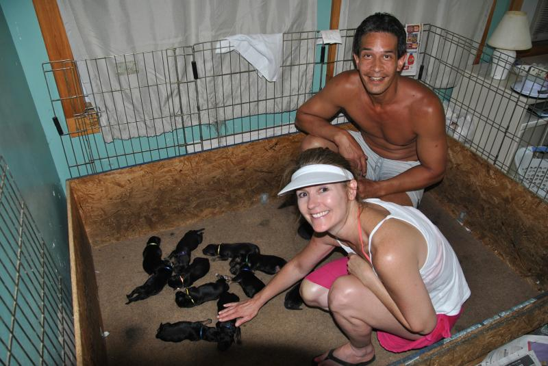 My best friends coming to see the babies