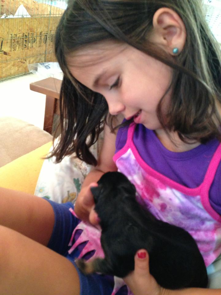 My grand daughter Rose is going to be just like me when it comes to animals