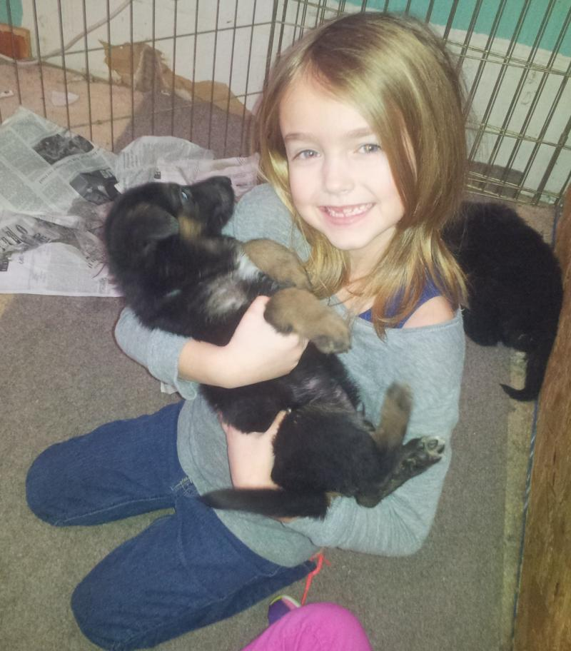 This lil girl has a very special spirit with animals