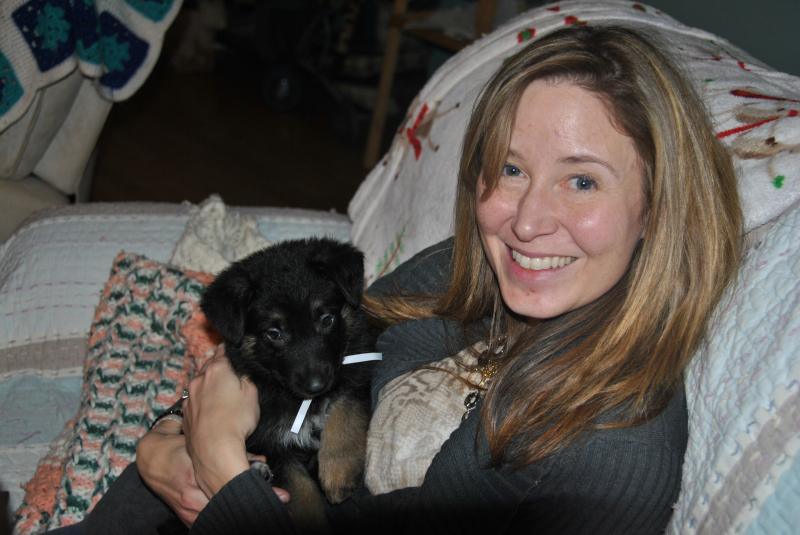 This lil girl already has bonded with her new mom, her 2nd visit